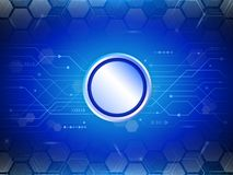 Blue hexagon abstract cyber future technology concept background Stock Image