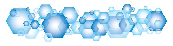 Blue Hexagon Background Stock Photos