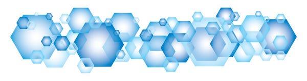 Blue Hexagon Background Stock Photos