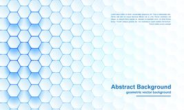 Blue Hexagon background, modern abstract, futuristic geometric vector background. Blue and white Hexagon background, modern abstract, futuristic geometric vector stock photo