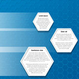 Blue hexagon business background design Royalty Free Stock Photos
