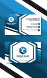 Blue hexagon business card stock illustration
