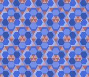 Blue hexagon. Stock Photography