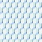 Blue hexagon geometry pale colr modern pattern. Stock Image