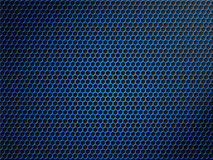 Blue hexagon or honeycomb metallic grid background Stock Photo
