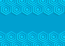 Blue hexagon paper abstract background Stock Photography