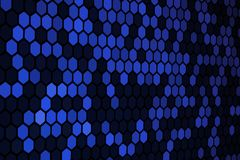 Blue Hexagon Pattern stock images