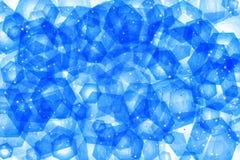 Blue Hexagon Pattern Stock Photography