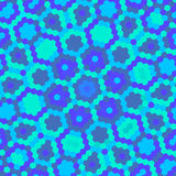 Blue hexagon pattern. Pretty simple hexagon retro pattern with multiple shades of blue stock illustration
