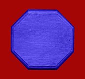 Blue Hexagon Shape on Red Royalty Free Stock Photos