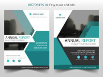 Blue hexagon Vector Brochure annual report Leaflet Flyer template design, book cover layout design, abstract business presentation. Template, a4 size design royalty free illustration