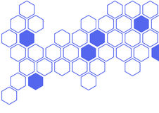 Blue hexagon on white background wall pattern Royalty Free Stock Images