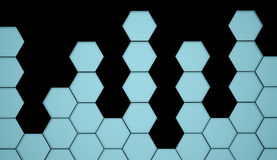 Blue hexagonal background Stock Photography