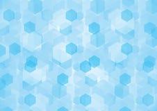 Blue Hexagonal Background. Blue background with hexagonal texture shape Stock Photos