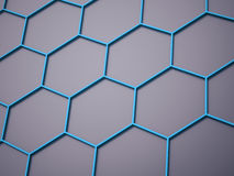 Blue hexagonal cells business background Royalty Free Stock Photography