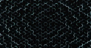 Blue Hexagonal Floor Loop Background stock footage