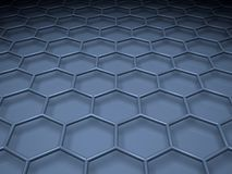 Blue hexagonal mesh structure. 3 d. Blue hexagonal mesh structure. 3d illustration Stock Photography