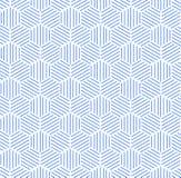 Blue Hexagonal Pattern Background. Blue hexagonal pattern with white background. Could be used for background pattern vector illustration
