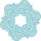 Blue hexagonal pattern. Light blue hexagonal pattern with abstract ornament royalty free illustration