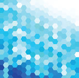 Blue Hexagonal Pattern Stock Photography