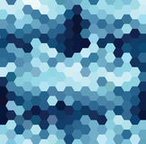 Blue Hexagonal Pattern. Vector background with blue and white hexagonal pattern stock illustration