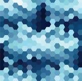 Blue Hexagonal Pattern Royalty Free Stock Image