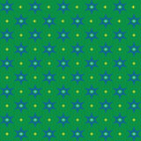 Blue hexagonal star on the green background vector. Royalty Free Stock Image
