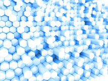 Blue hexagons Stock Images