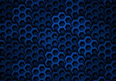 Blue Hexagons Stock Image