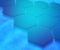 Blue Hexagons Abstract Background Stock Photo
