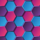Blue hexagons Royalty Free Stock Photography