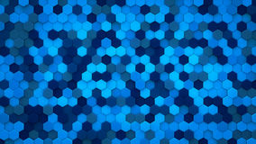 Blue hexagons mosaic 3D render Stock Image