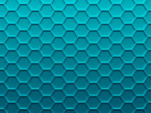 Blue hexagons. Scientific abstract background Royalty Free Stock Images