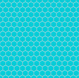 Blue hexagons of steel, metal. Seamless vector texture. Technology seamless pattern. Vector geometric background. Stock Photography