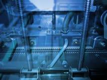Blue hi-tech background Royalty Free Stock Photos