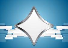 Blue hi-tech background with metal shape Stock Photos