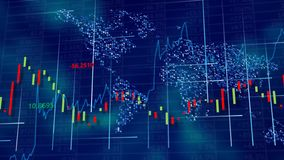 Blue hi-tech background - stock diagrams, graphs and tables. royalty free stock photos