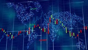 Blue hi-tech background - stock diagrams, graphs and tables. stock photos