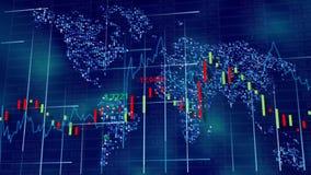 Blue hi-tech background - stock diagrams