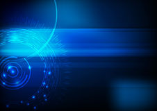 Blue hi-tech computer background Stock Image
