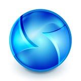 Blue hi-tech globe symbol Royalty Free Stock Images