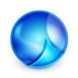 Blue hi-tech globe symbol Stock Image