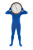 Blue: Hiding Behind Five O'Clock Time Royalty Free Stock Images