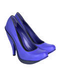 Blue high heel women shoes Royalty Free Stock Photography