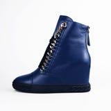 Blue high heels boots Stock Photo