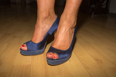Blue High Heels Royalty Free Stock Photo