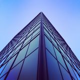 Blue High Rise Building Low Angle Photography Stock Images