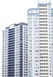 Blue high-rise building. Multi-storey new building Royalty Free Stock Images