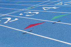 Blue High School Track Detail Stock Images