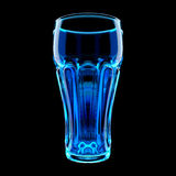 Blue Highball Glass. Wineglass  Isolated on Black. Clipping Path. 3D Illustration Stock Photography